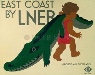 'East Coast by LNER'  LNER poster  1923-1947.