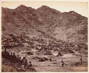 'Kutchi (Gypsy) Village Near Dacca [sic]'  c 1878.