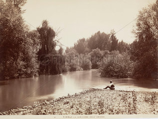 River Aniene  Tivoli  Italy  c 1850-1900.