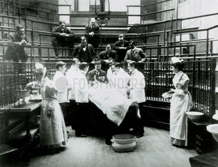 Early surgery  University College Hospital Medical School  London  1898.