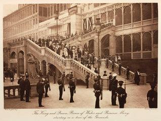 Royal party touring the Crystal Palace  Sydenham  1911.
