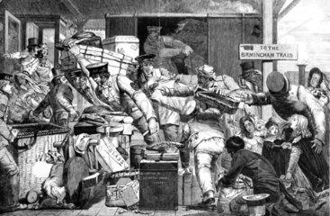 'Break of gauge'  Gloucester  June 1846.