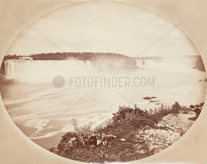 Niagara Falls from the Canadian side  c 1850-1900.
