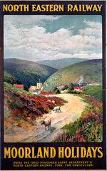 'Moorland Holidays'  NER poster  1900-1922.
