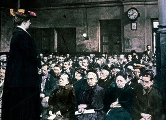 Woman addressing an audience of women  c 1895.