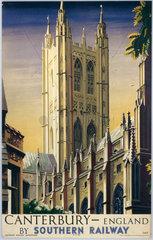 'Canterbury'  SR poster  1938. Colour poste