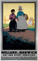 'Holland via Harwich'  LNER poster  1923-1947.