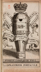 Becher's alchemical furnace assembled  1689.