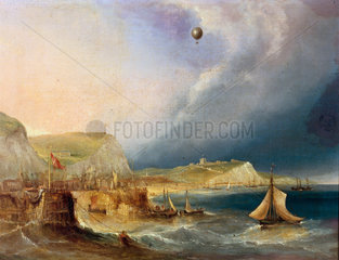 The first balloon crossing of the English Channel  7 January 1785.