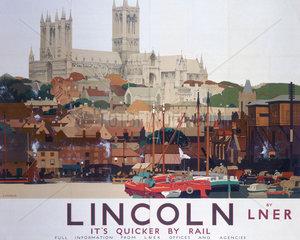 'Lincoln'  LNER poster  1924.
