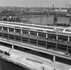 View of Ocean Terminal from quayside  Southampton Docks  1950.