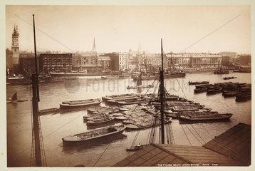 'The Thames Below London Bridge'  c 1890.