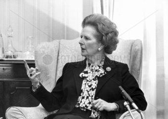 Margaret Thatcher  British Prime Minister  1988.