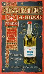 Advertisement for Absinthe Junod  c 1900.