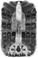 Illuminated fountain  Royal Panopticon  Leicester Square  London  1854.
