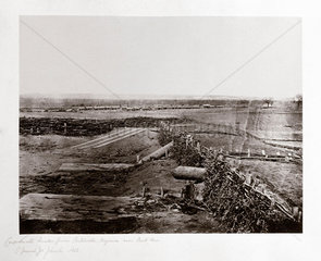 Confederate 'Quaker guns'  Centreville  Virginia  USA  March 1862.