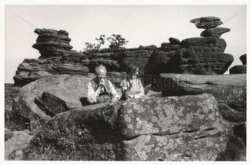 Brimham Rocks  North Yorkshire  1968.