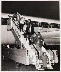 Kenyan Asian families arriving at Heathrow  c 1967.