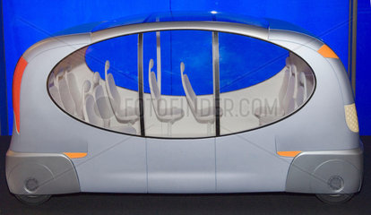 Driverless bus in the Science Museum's Antenna science news gallery  2007.