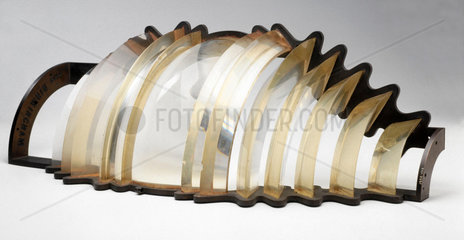 Section of 36 inch high fixed-lens (fourth order) lighthouse optic  1890-1900.