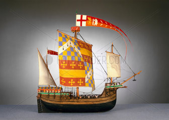 Large English ship or 'Cog'  c 1485.