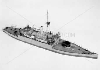 H.M.S. 'Humber'  1914. Model. During WWI a