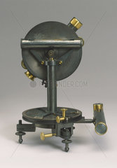 Three and a half inch travellers transit theodolite  c 1840.