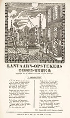 Gas lamplighters in Amsterdam  poster  1856.