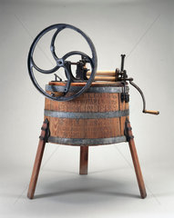 Hand-operated wooden washing machine  1890.