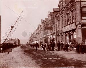 Market street  Ebbw Vale  Blaenau Gwent  Wales  1880-1895.