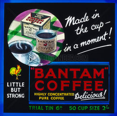 'Bantam Coffee - Made in the Cup in a Moment!'  c 1930s.