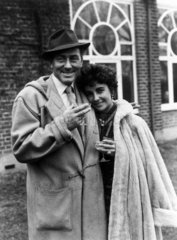 Michael Wilding and Elizabeth Taylor  British actors  1952.