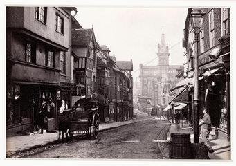'Shrewsbury  Street View - Pride Hill and New Market'  c 1880.