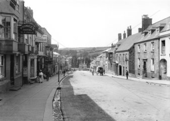 Street in a Cornish town  1923.