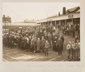 Miners at Talbot Road Station  1919.