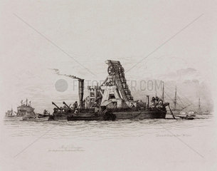 Mud dredger  1829.