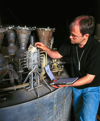 Gamma 8 rocket engine  1964-1971.