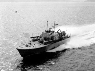 HMS 'Brave Borderer'  1950s.