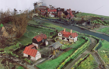 British village  c 1750.