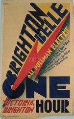 'Brighton Belle'  SR poster  1934.