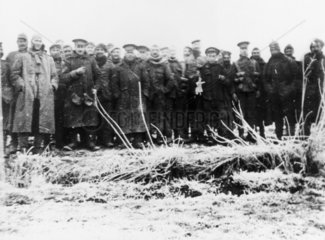 British and German troops posing together  1914.