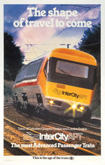 'The Shape of Travel to Come'  BR poster  1970s.