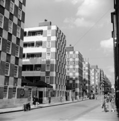 Page Street flats  Westminster  1954.