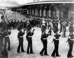 Funeral cortege of King Edward VII  Windsor Station  20 May 1910.