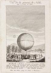 'View of the Nesle plain'  France  1 December 1783.