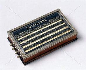 The 'Tachylemme' ready reckoner  c 1876.