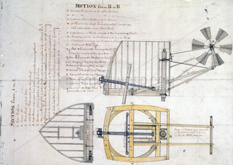 Drawing of a windmill  1816.