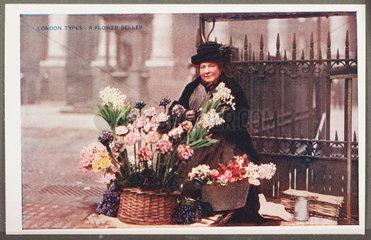 'London Types: A Flower Seller'  c 1914.