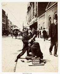 Two bootblacks  c 1895.