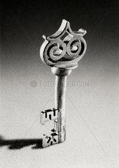 Wrought iron key  Flemish  16th century.